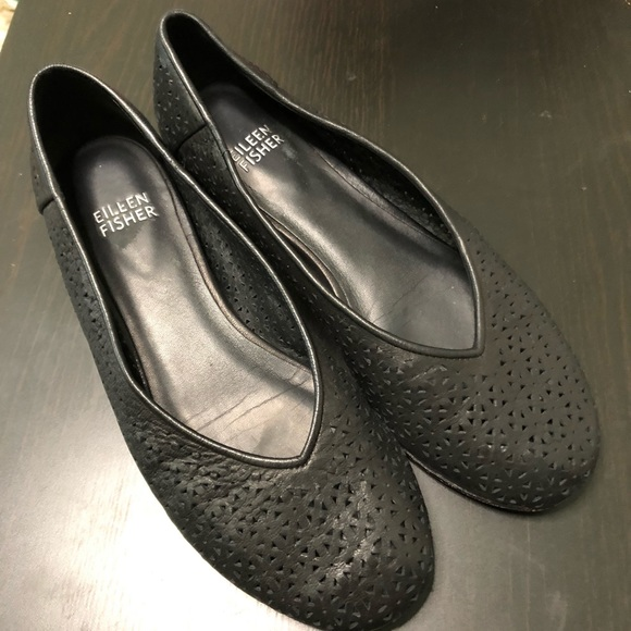 Eileen Fisher Shoes - Eileen Fisher 'Patch' Perforated Leather Flat